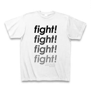 中島みゆきさん的「ファイト!」TシャツC(英字×4)