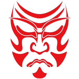 歌舞伎 <kd004>弁慶 隈取り はんこ (21mm 印鑑)