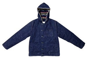 19AW 14.5オンスセルビッヂデニムフーディーN-1デッキジャケット / 14.5onz denim hoodie N-1 deck jacket