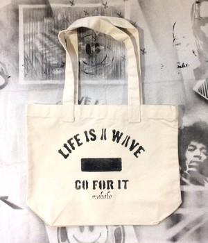 トートバッグ「LIFE IS A WAVE」