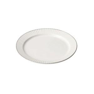 「ティント Tint」プレート 皿 M 約17cm ホワイト 美濃焼 289006