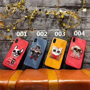 オリジナル アイホンX携帯カバー 可愛い 犬ちゃん 猫ちゃん アップリケ iphone8 plus ジャケットケース カッコイイ アイフォン6Sプラス 保護カバー 即納品 シンプル 男女通用