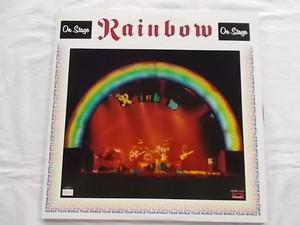 中古レコード 国内盤 2枚組 LP レインボー オンステージ 見開きジャケット フォトポートレート 歌詞 解説付