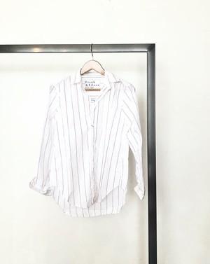 "frank&eileen/ ""frank"" italian cotton shirt (red stripe)"