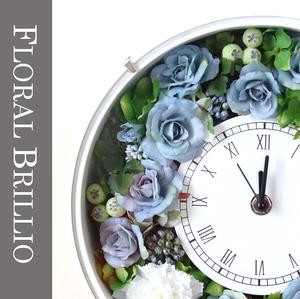 お誕生日・開店・新築・ご結婚などお祝いの贈り物に♪花時計~アーティフィシャルフラワー~