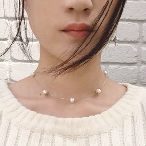 ■dot pearl necklace■~white~ ドットパールネックレス~ホワイト~