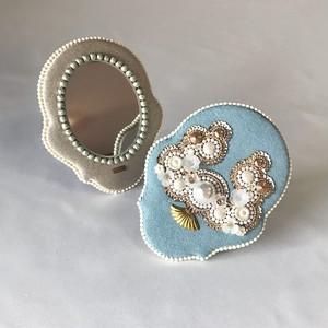 hand mirror/opal green 20