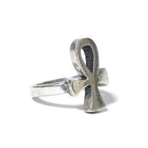 Vintage Sterling Silver Mexican Ankh Cross Ring