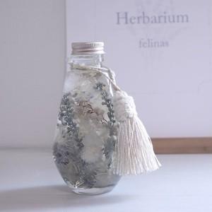 ハーバリウム【Herbarium】クリスマス・ホワイト しずく