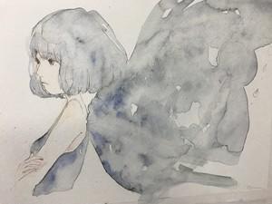 """ポストカード""""蒼い蝶"""""""