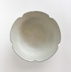五辺輪花スープ皿(白)