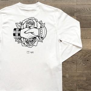 【残りわずか】get together × Jazzy Sport ロングスリーブ Tシャツ/ホワイト