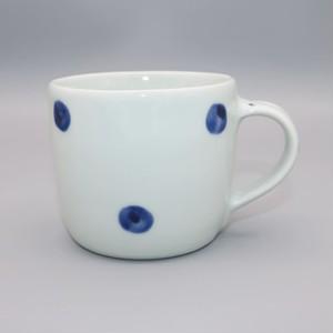 砥部焼 梅乃瀬窯 マグカップ(大) 点紋