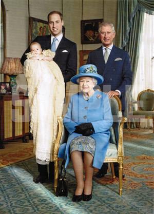 英国王室ポストカード【英国王室4ジェネレーション】Pageantry Postcard 90183-JEF040