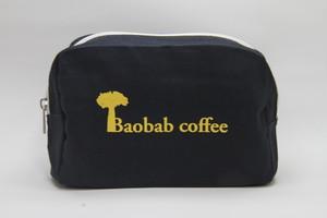 Baobabcoffee キャンバスファスナーポーチ ネイビー