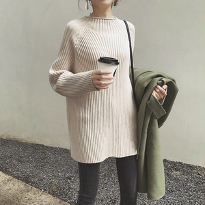 【即納】5color: Mockneck Rib Volume Knit  送料無料