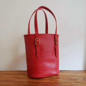 バケツ型トートバッグ イタリアンレザー 手縫い