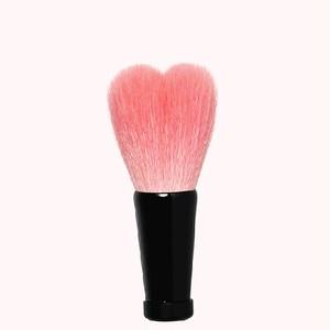 ハート型洗顔ブラシ 小 ピンク/黒軸
