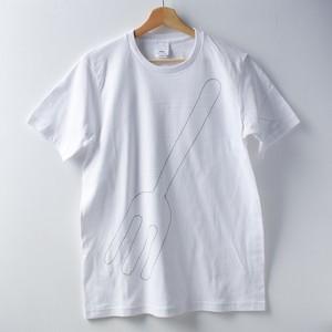 刺繡Tシャツ「COFFEE OR TEE」_fork_Lサイズ