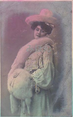 古絵葉書エンタイア「女性」(1900年代初頭)
