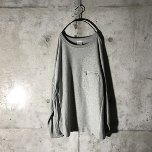 [Champion] zipper long T-shirt
