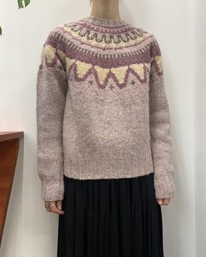 Woolrich nordic pure wool knit sweater handknit 【M】