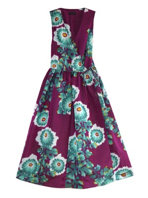 CLAUDIA WRAP DRESS - turquoise mums