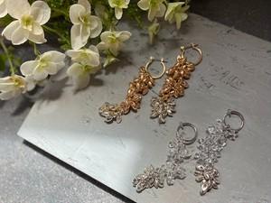 frill beads pierce/earrings
