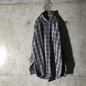 [BURBERRY] burberry checked navy shirt