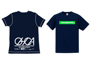 OHCAHOPPERS Tシャツ ネイビー×グリーン 003(NEW)
