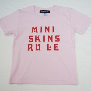 MINI SKINS RULE Tシャツ キッズサイズ ライトピンク