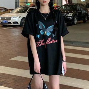 【トップス】韓国系半袖ラウンドネックプルオーバー蝶Tシャツ30886671