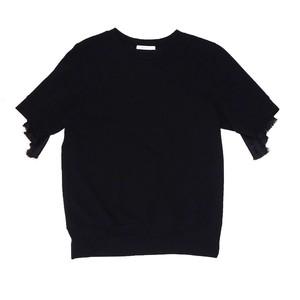 Raffle sleeve tops - Black