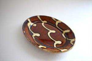 中川紀夫(紀窯)|楕円皿小 波線3本