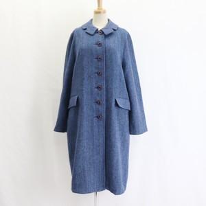 70's Vintage 【Harris Tweed】Scottish Wool Coat 70年代 ヴィンテージ ハリスツィード スコットランドウール コート