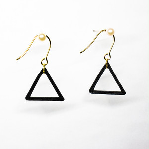 3Dプリントピアス - TRIANGLE
