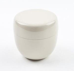 【茶道具/棗】おしゃれ かわいい カラー棗(ホワイト)