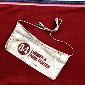 60's ビンテージ ワーク エプロン コットンキャンバス素材 染み込みプリント 赤 アンティーク 84 Apron 軍幕キャンプ グランピング