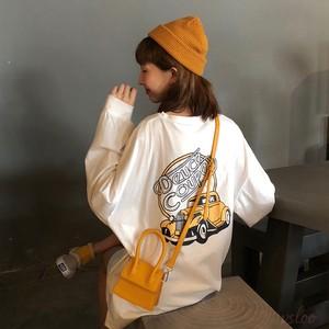 【トップス】ファッションプリントカートゥーン長袖Tシャツ