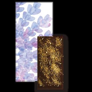 レモンピールとラベンダートッピングダークチョコレート(ミニサイズ)