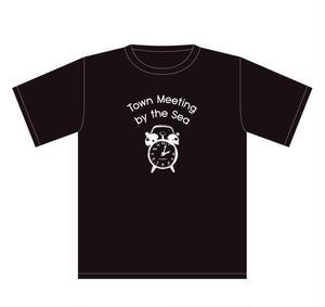 【限定】Town Meeting by the Sea / Clock T-shirts(black)