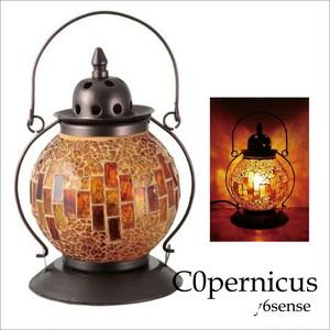 モザイクランプ  ランタン型 amber クリムト風ランプ  浜松雑貨屋C0pernicus