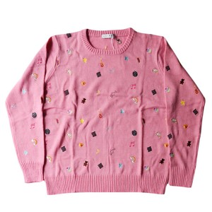 "【LABRAT】sticker sweater PINK ""SIZE M"""