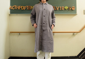 HARVESTY OVERCOAT GRAY