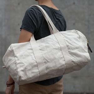 【受注製作】ウォッシャブル 帆布のボストンバッグ
