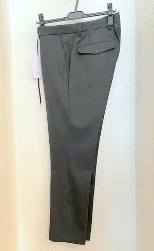 Stripe Stretch Slacks Pants Charcoal Stripe
