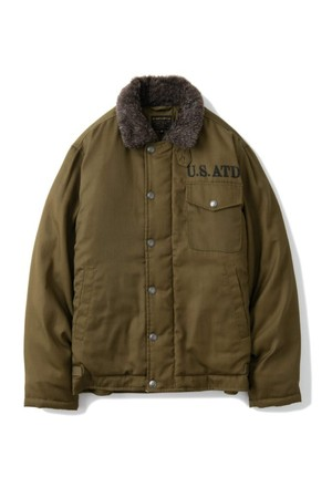 """AT-DIRTY(アットダーティ) / """"A2 DECK DOWN JACKET""""(OLIVE)"""