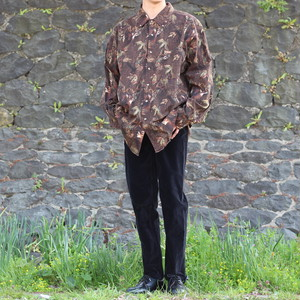 USA VINTAGE DEER PATTERNED LONG SLEEVE SHIRT/アメリカ古着シカ柄長袖シャツ