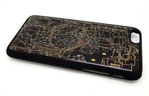 東京回路線図 iphone6/6s  case 黒【LEDは光りません】【回路線図ステッカー4種セットプレゼント】