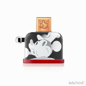 InfoThink USBメモリ ディズニー 90th アニバーサリーミッキー トースター型  USB-100(Silver)16GB